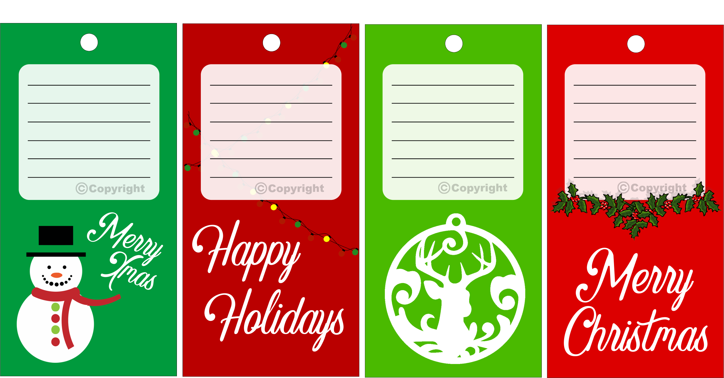 Christmas Gift Tag Set 1