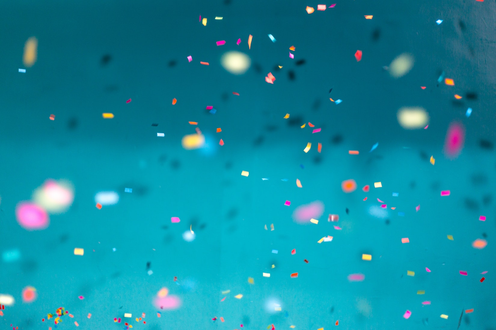 Confetti at a Birthday Party