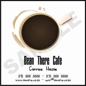 Bean There Cafe Business sticker