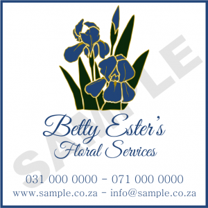 Betty Ester Floral Services Business Sticker