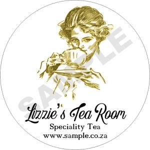 Lizzies Tea Room Business Sticker