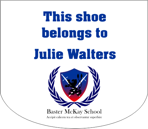 School Shoe Sticker Sample