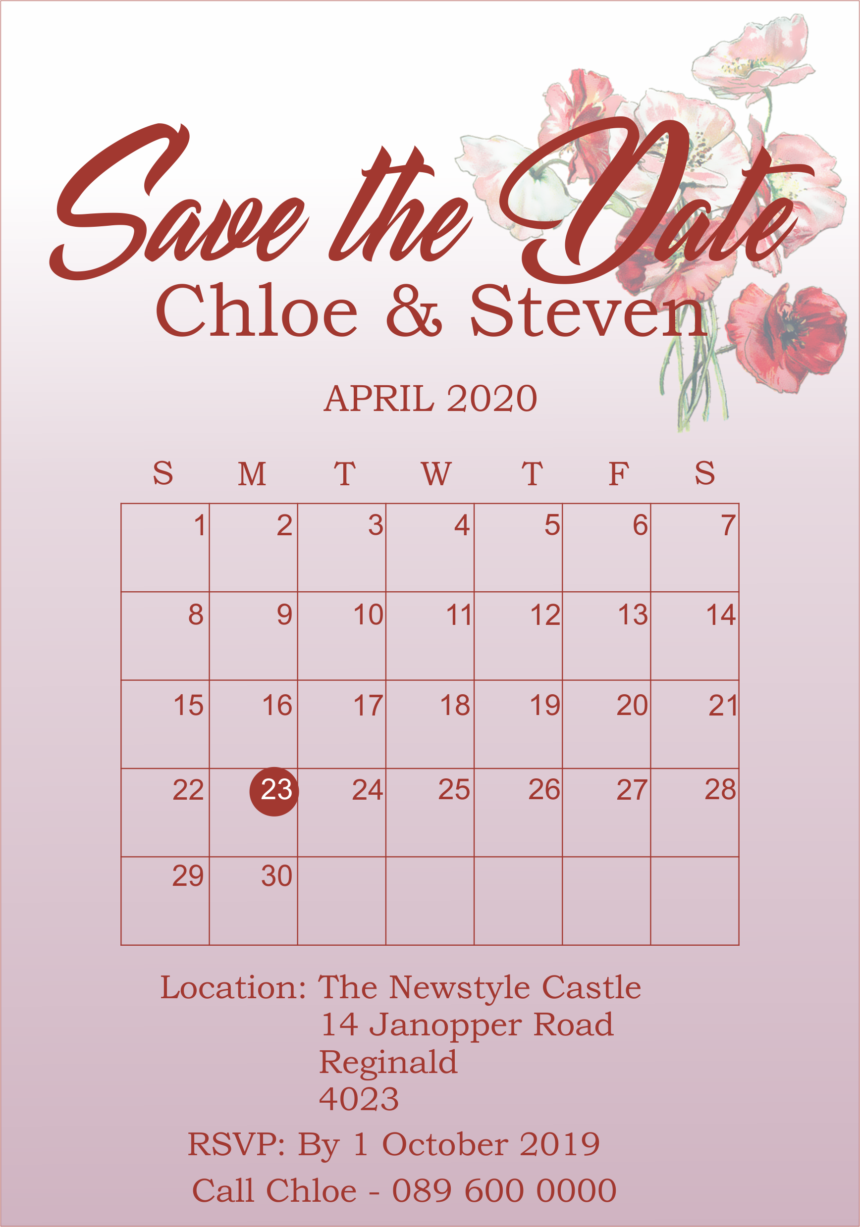 Save the Date Wedding Invite sticker