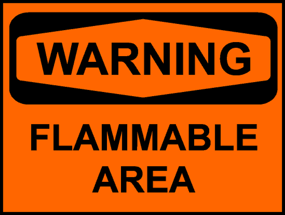 Industrial Warning Sign Sticker